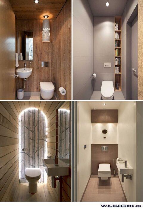 Освещение в туалете фото небольшого размера