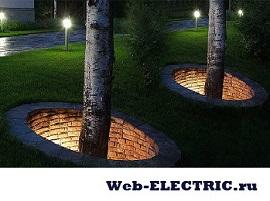 Освещение в ландшафтном дизайне фото