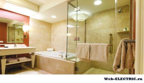 Освещение в туалете и ванной