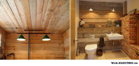 Как сделать освещение в дачном туалете