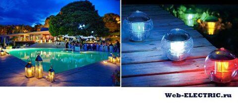 Освещение бассейна светодиодное