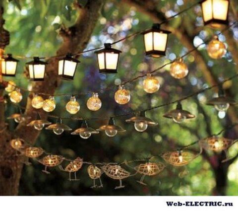 Освещение в беседке на даче без электричества