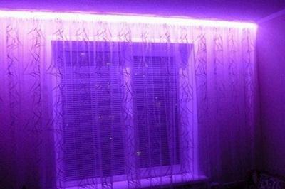 Светодиодная подсветка штор