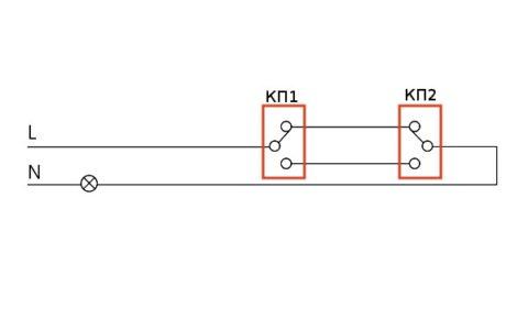 Использование кнопочного переключателя