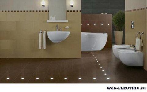 Освещение в ванне и туалете
