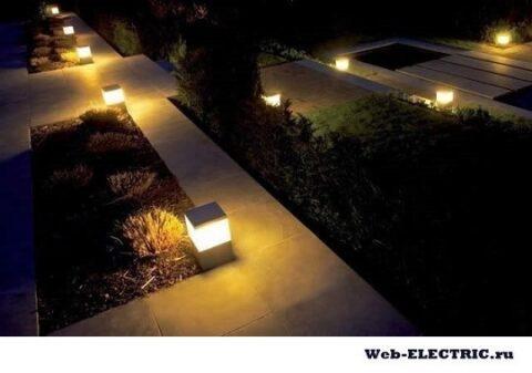 Освещение во дворе частного дома