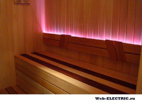 Оптоволокно освещение для сауны