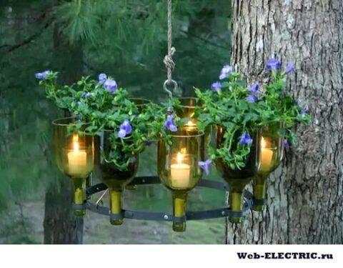 Садовое освещение своими руками