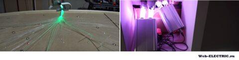 Оптоволоконное освещение для сауны фото