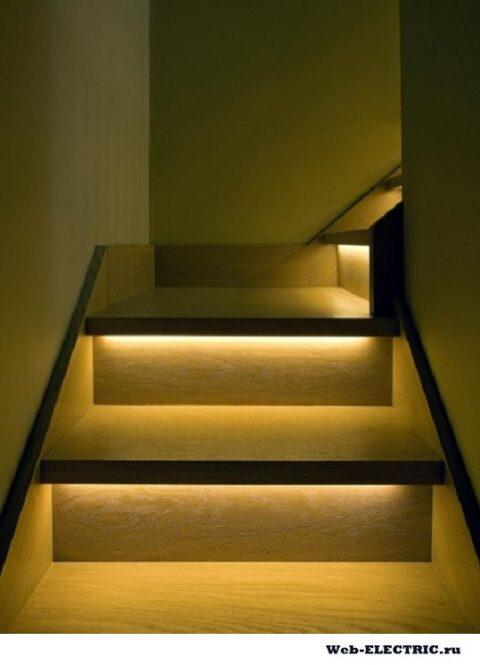 Освещение на лестничной площадке в частном доме