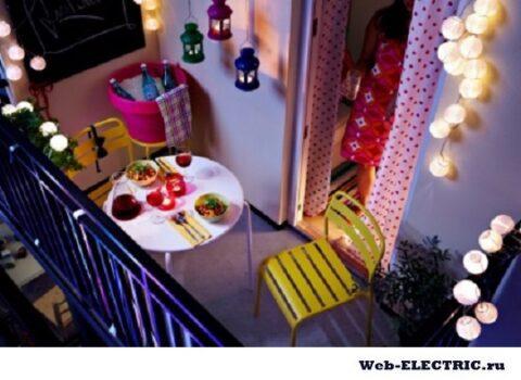 Освещение балкона варианты
