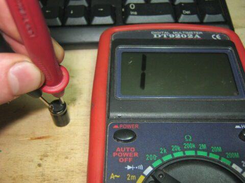 Измерение сопротивления конденсатора
