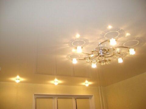 Высота потолка для люстры