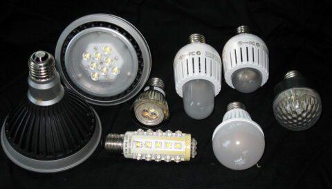 Выбор ламп