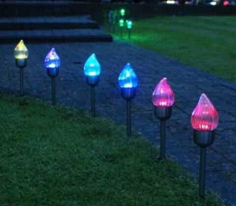 Декоративные светильники на солнечных батарейках