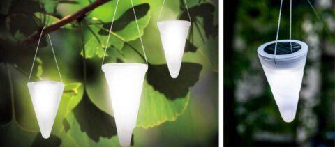 Подвесные фонари на солнечных батарейках