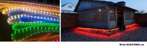 Освещение веранды светодиодными лентами