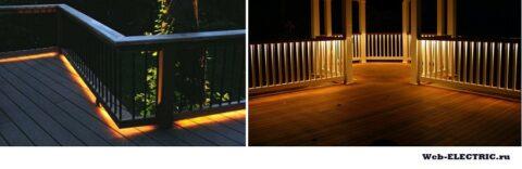 Освещение веранды в частном доме
