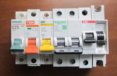 Рейтинг автоматических выключателей
