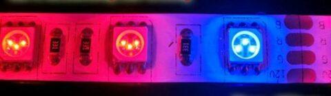 Чередование светодиодов для подсветки цветов