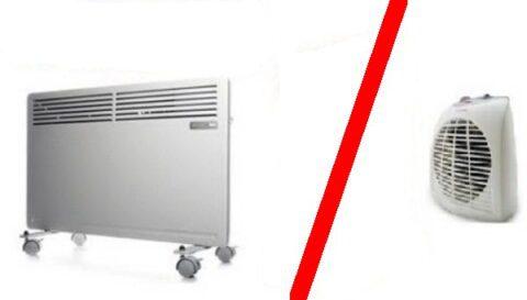 Конвектор или тепловентилятор