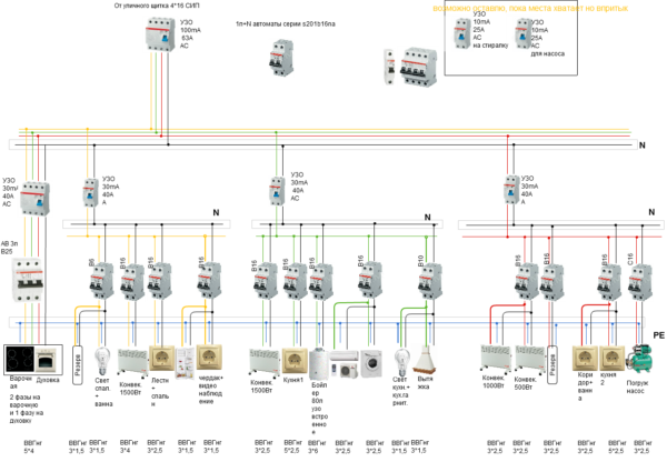 трехфазная схема 15 квт