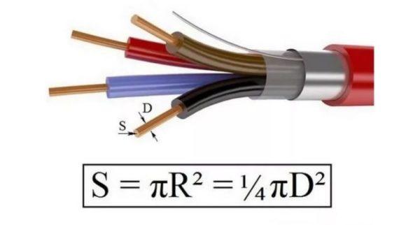 сечение провода и диаметр